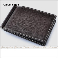The Top Quality Genuine Leather Money Clip Wallet