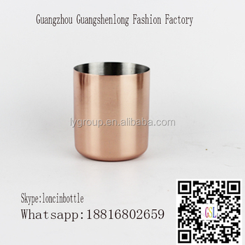 Homemade copper candle cup soya wax jar,13oz copper candle jar,stainless steel copper plated mugs