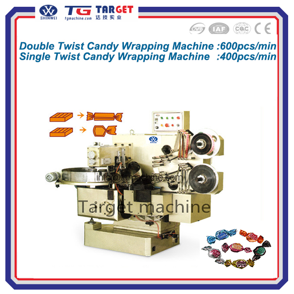 Automatic Toffee candy double twist wrapping machine
