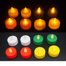 cheap CR2032 Battery Operated Flameless flickering mini Led Tea light Candle