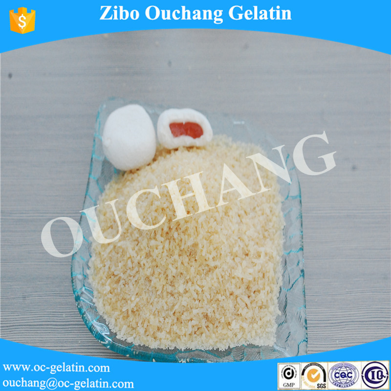 Top sale delicious food 150 bloom ox bone Gelatin Powder privilege for marmalade