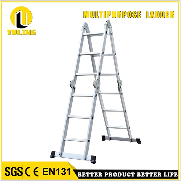 Sturdy multipurpose aluminum ladder with big hinge and folding ladder with hinge TL-403B