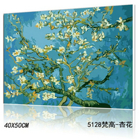 Yiwu manufactory DIY oil paint by numbers chinese painting yiwu cheap painting