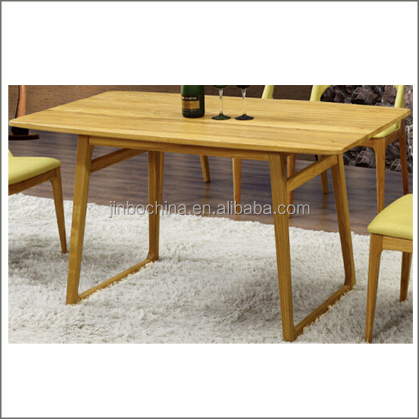 2016 cheap rectangle wooden dining table