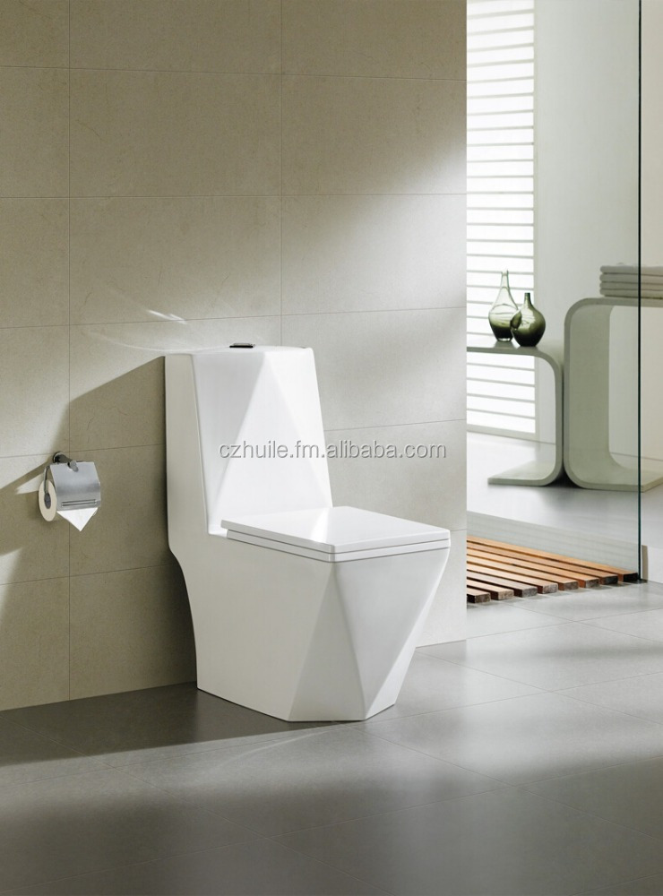 one piece toilet S-trap 250mm 4 inch washdown wc toilet