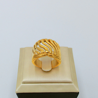 Elfasio Mens Stainless Steel Ring Gold