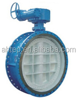 Cast Iron Flanged Type Double Eccentricity Soft Seal Butterfly Valve Reliable Performance Valve