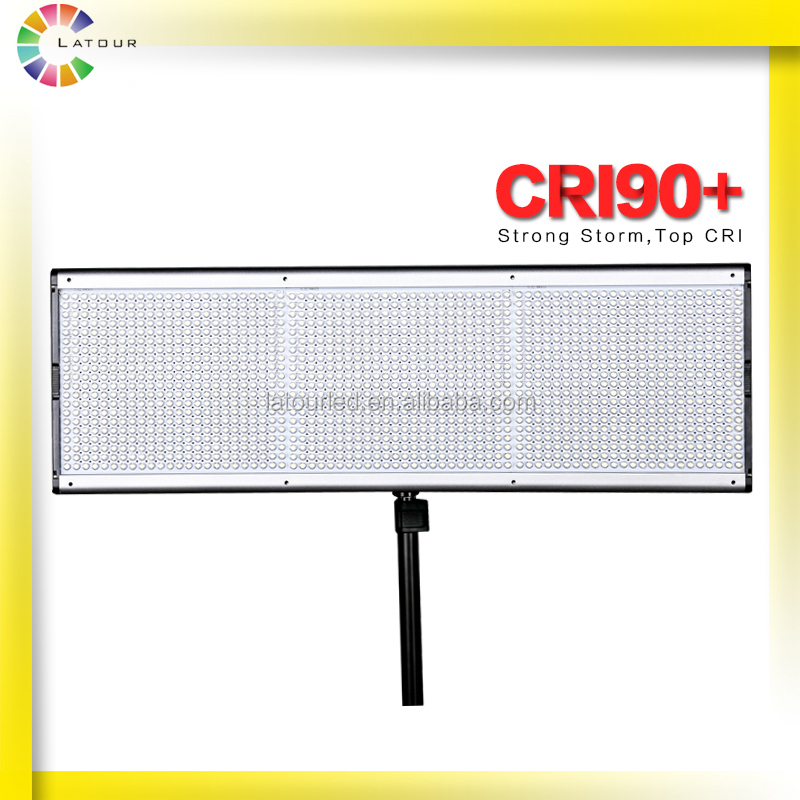 China Ultra Thin CRI90 shooting accessories 1500 LED bulbs 90W continue Bi-color Studio Video Light
