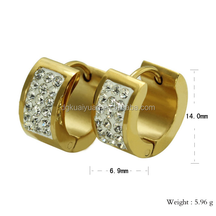 China factory cz earring roman numbers ear cuff for girls women Fashion Modeling 316L stainless steel jewelry designs