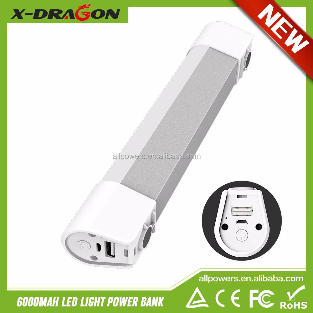 New Arrival Power Ban LED Illumination Power Bank External Battery for Phones