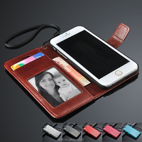 Hot sale Colorful high quality PU Leather Wallet Card Slots cell phone Case for iphone 6 for samsung for htc