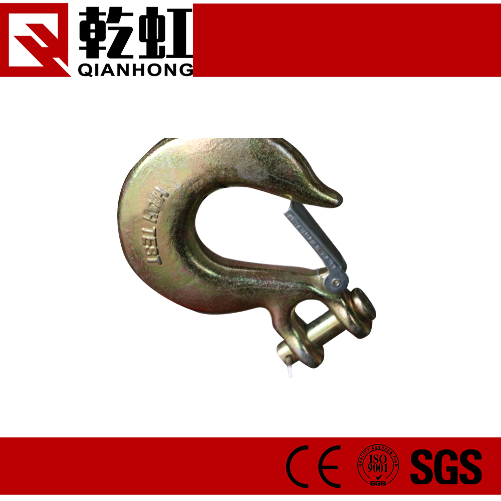 "7/16"" Factory Price Carbon Steel Safety Clevis Grab industrial hook"