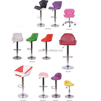 Industrial swivel bar stool with high back