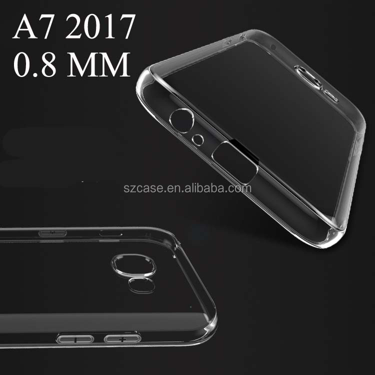 For Samsung Galaxy A7 2017 Case,0.8mm Soft Transparent tpu case for Samsung Galaxy A7 2017 A720