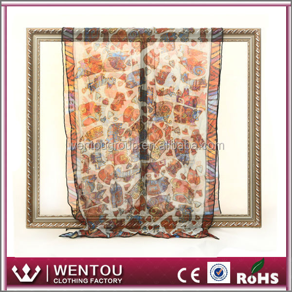 Fashionable Digital Printed Silk Scarf Hangzhou