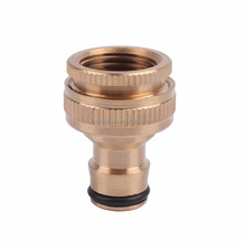 "High quality whole brass tap connector with inner thread for 1/2"" and 3/4"" faucet with outer thread"