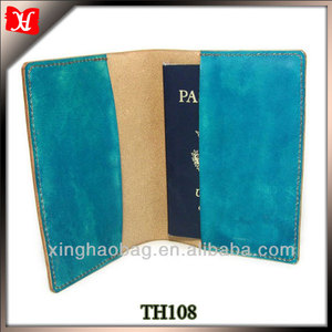 Factory custom passport cover cheap genuine leather passport case