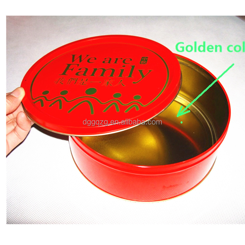 round metal cookies tin