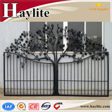 Outdoor wrought simple iron pipe gate grill designs