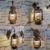 Indoor wall lamp vintage oil lantern sconce wall Brass brown antique light LED light fixture 4w