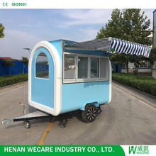 2018 new designed cheap hot dog cart mobile food mobile street fast food cart