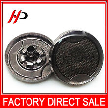 Gunmetal 17 mm factory manufacturer alloy metal snap crystal rhinestone fashion button from china