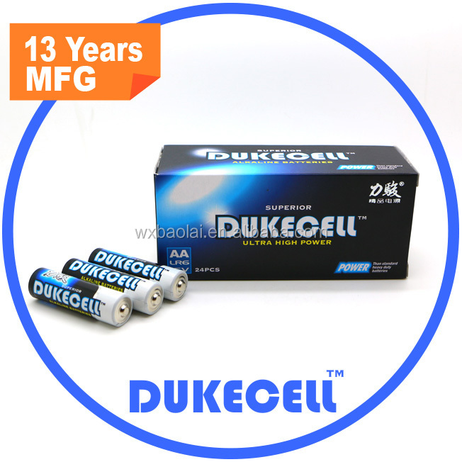 Reliable quality long shelf life 1.5 v aa alkaline battery