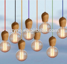 traditional wooden head pendant light from china manufacturer