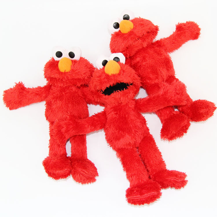 Stuffed cartoon Movie action figure Characters Sesame Street Elmo Plush Dolls