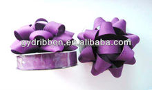 2016 Matte purple glitter 3 inch with 13 loops mini star bows for gift/ Christmas/party/ holiday decoration