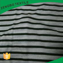 Hot sale black and white striped polyester rayon spandex/lycra jersey knit fabric