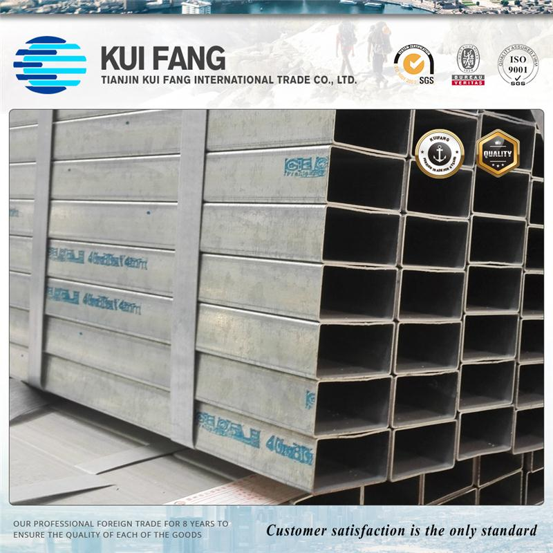 high zinc coating square galvanized steel hollow section for power project
