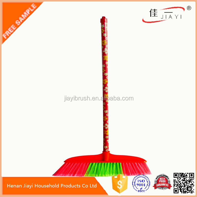 Cheap flower wood broom stick