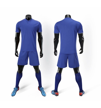 China Top Quality Custom Logo Number Blue Blank Soccer Training Jersey Sport