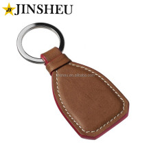 Wholesale cheap custom logo embossed leather keyring