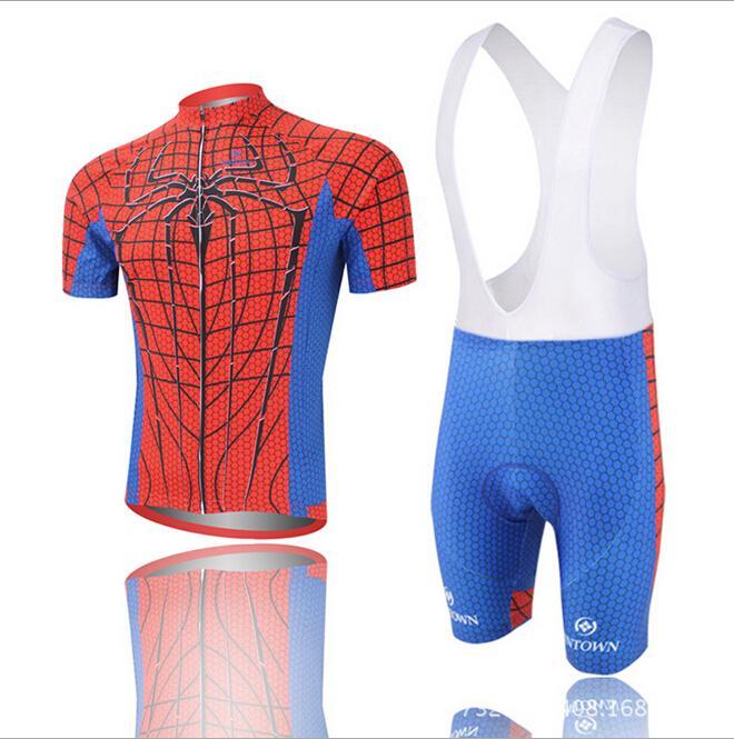 2014 Men spider man Cycling clothing  Cycling wear  Cycling jersey short  sleeve 144756a9b