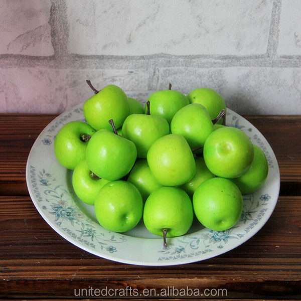 Decorative Large Artificial Green Apple Plastic Fruits