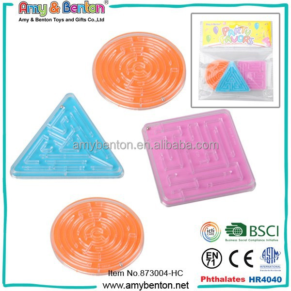 Children intelligence funny plastic maze ball game puzzle toy