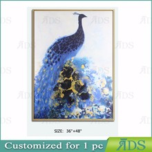 Best Price And High Quality Handmade/Handpainted Peacock Oil Painting on Canvas