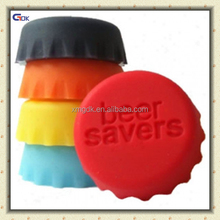Colorful Food-safe silicone beer saver reusable silicone bottle cap