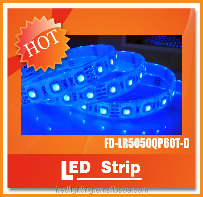 Long life time RGB color changging SMD5050 60leds totally waterproof IP68 led strip with3 years warranty