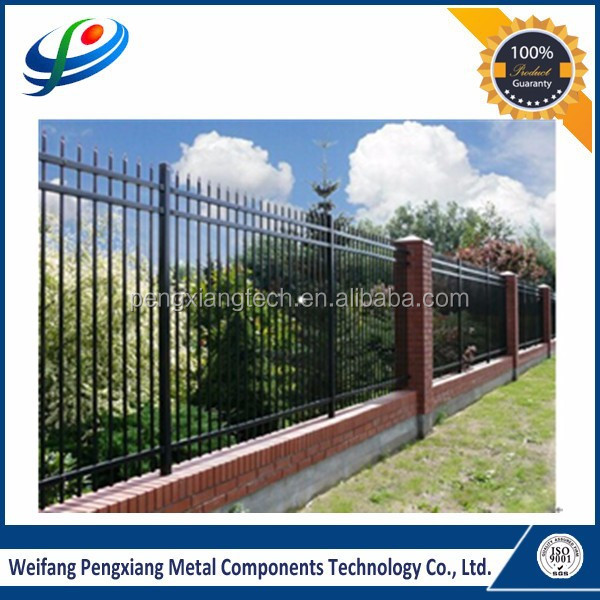 2015 the best price American type 3 rails spear head steel picket fencing