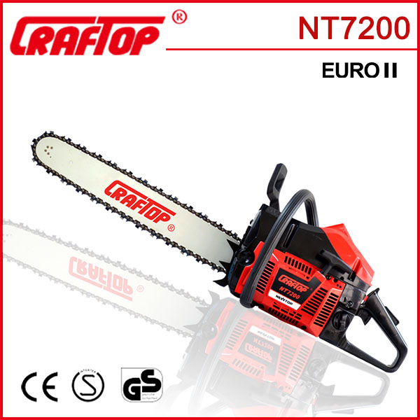 72cc petrol chain saw wood cutting machine with pull starter