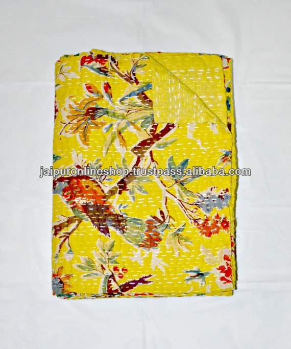 B bird of paradise kantha quilts