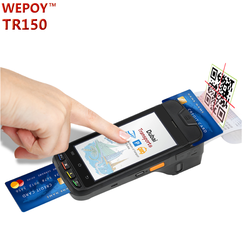 EMV rugged 4G android pos mini lottery machine with printer Barcode scanner GPS nfc