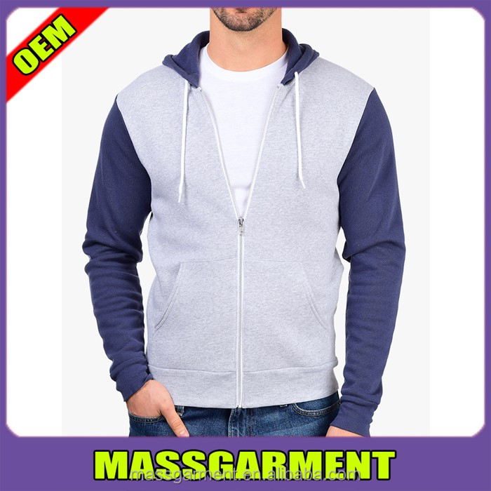 Fashion two colors paneling hoodies dri fit soft hoodies Next performance level hoodies with zipper