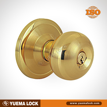 stainless steel brass electroplating Cylindrical knob lock with cheap price