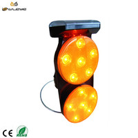 Solar LED Traffic Warning Flashing Lamps Barricade light For Road Safety Cone