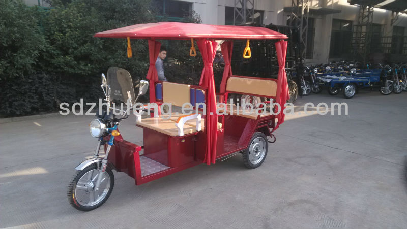 Hybrid electric tricycle with 4-7 passenger seater