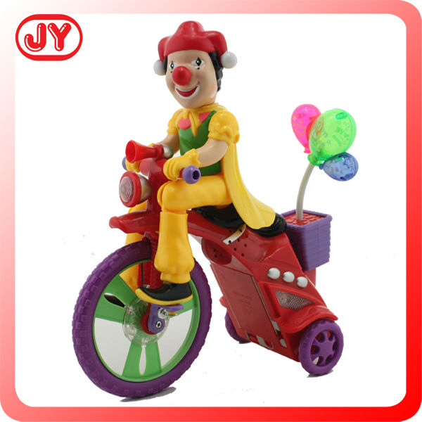 Battery operated bike clown toys for kids